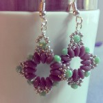 circle in the square earrings