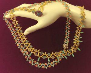 flower sprinkled necklaces